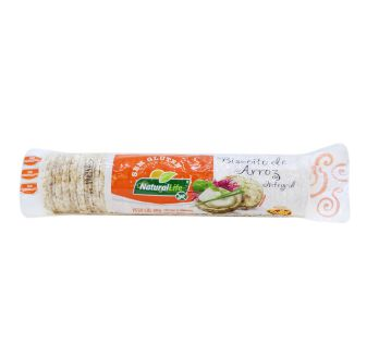 Biscoito de Arroz Integral Mini 80gr NATURALLIFE