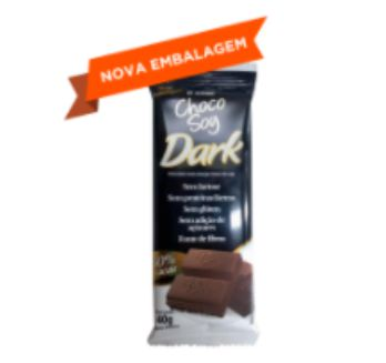 CHOCOSOY DARK MIX 50% CACAU 40GR OLVEBRA